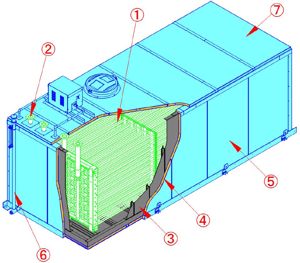 内融式アイスチラー®氷蓄熱ユニットの構造